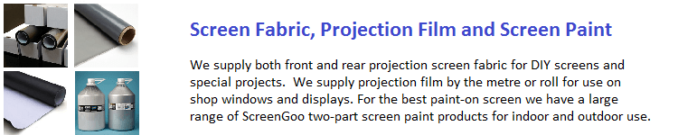 Projection Screen Fabric, Projection film and Screen Paint