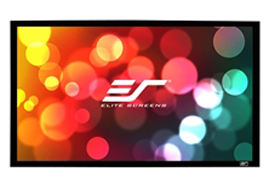 Elite, Screens, ER110WH2, SableFrame, 2, Series, Projector, Screen, 110, Fixed, Frame, 16:9, 6CM, Black, Velvet, Border,