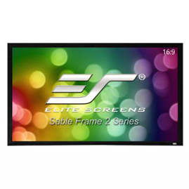 Elite, Screens, ER120WH2, SableFrame, 2, Series, Projector, Screen, 120, Fixed, Frame, 16:9, 6CM, Black, Velvet, Border,