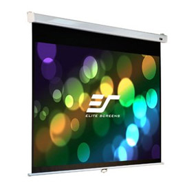 Elite, Screens, PRO, 100, (2.2m, wide), 16:10, Manual, Pull, Down, Screen, with, WHITE, CASE, and, SLOW, RETRACTION,