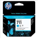 Hewlett-Packard, 711, 3-pack, 29-ml, Cyan, Ink, Cartridge,