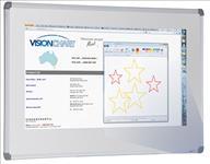 Visionchart, Escribe, Premium, Porcelain, Whiteboard, 1200, x, 900mm,