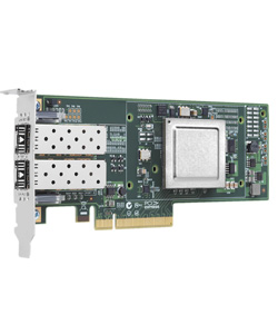 Qlogic, 10Gb, Dual, Port, FCoE, CNA, x8, PCIe, SR, optics,