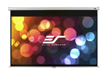 "Elite Screens M150UWV2 Manual Pull-down Series 150"" 4:3 Projector Screen Wall / Ceiling Mount Black Casing"
