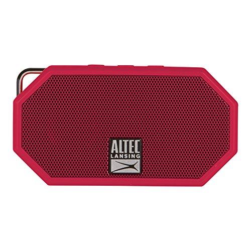 Altec, Lansing, Mini, H20, 3, Red, -, EVERYTHING, PROOF, Rugged, &, waterproof, Bluetooth, speaker, (6, hrs, Battery),