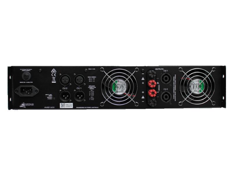 Australian, Monitor, Power, Amplifier., 2, x, 800w, @, 4ohms, 500w, @, 8ohms., 240VAC, 2RU,
