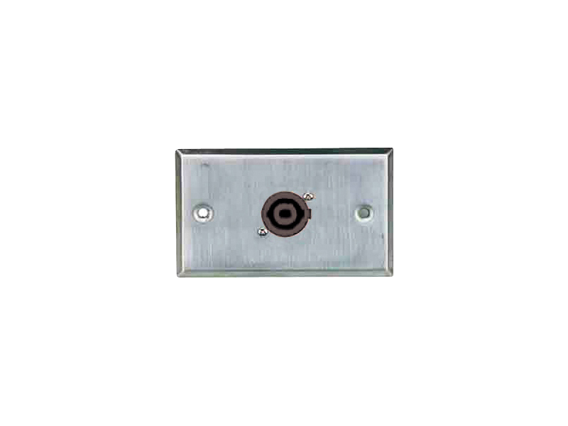 Australian, Monitor, Wall, Plate, with, 1, x, 4, Pole, Twist-Lock, Speaker, Socket,
