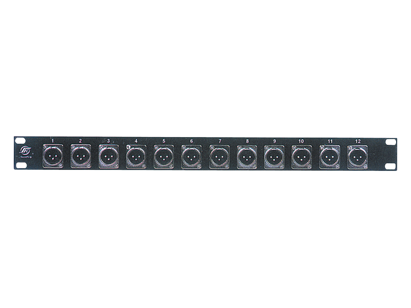 Australian, Monitor, Patch, Panel, -, 1RU, Panel, with, 12, x, XLR-3M,