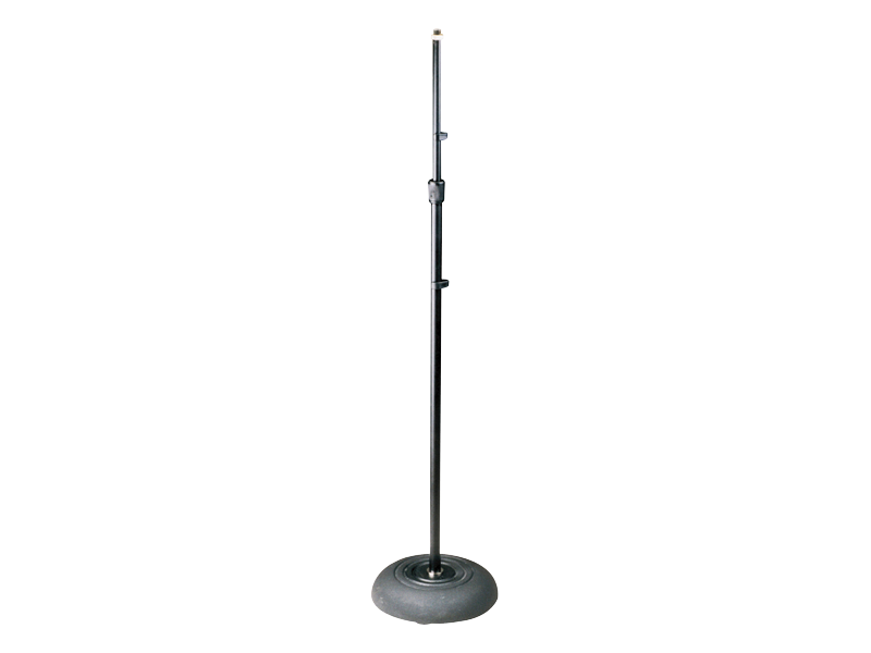 Australian, Monitor, Microphone, stand., Floor, solid, round, base, telescopic, black, 84-160,