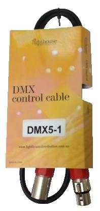 Australian, Monitor, DMX, 5, pin, XLR-XLR, cable, 1, meter.,