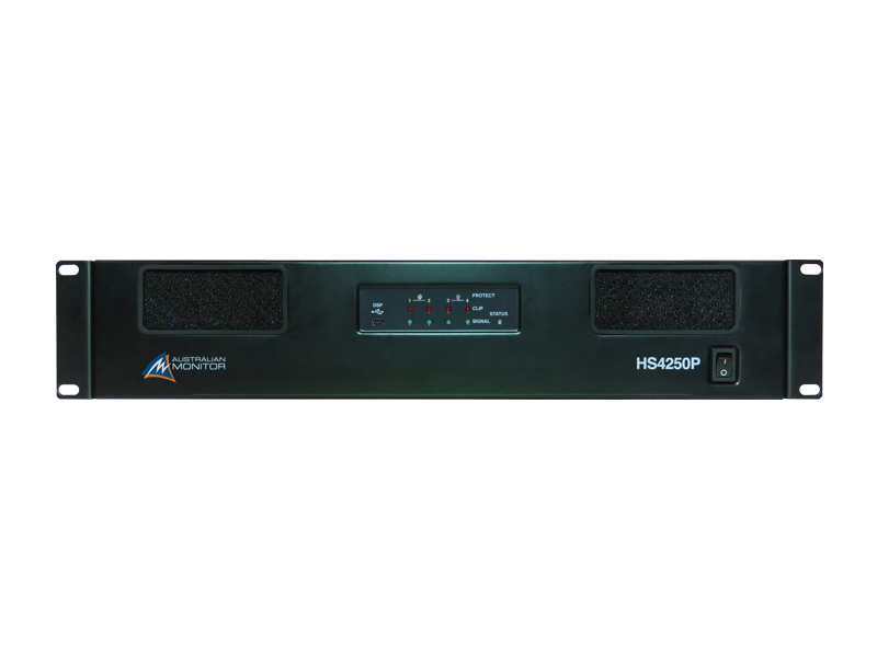 Australian, Monitor, Power, Amplifier:, 4, x, 250, watts, 100, volt, line, or, low, impedance, with, mi,