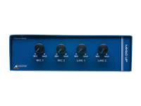 Australian, Monitor, 4, channel, passive, mixer., Features, 2, balanced, XLR, mic, level, inputs, and,