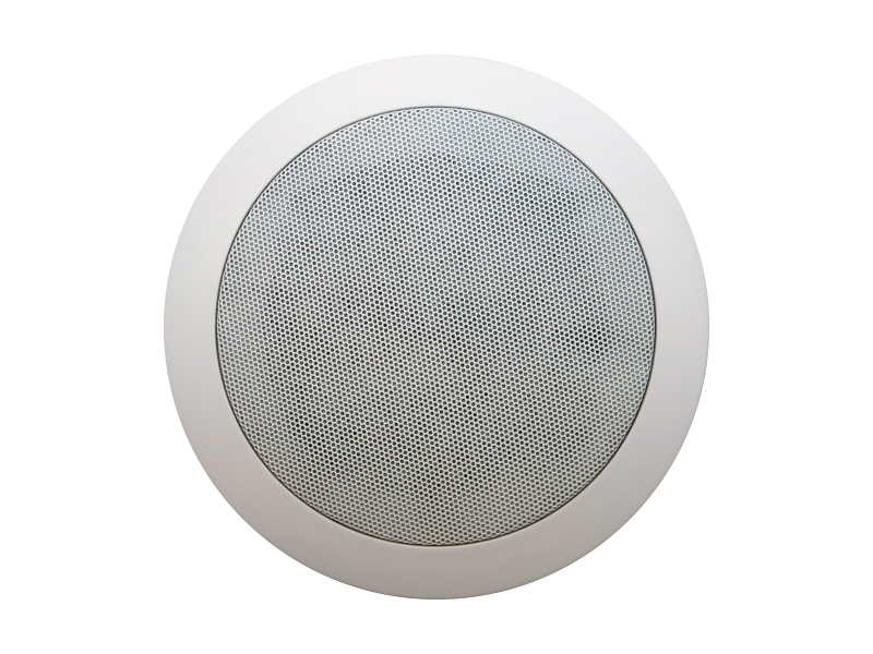 Australian, Monitor, Dual, cone, ceiling, speaker, featuring, white, baffle, and, push, in, grill, 5,
