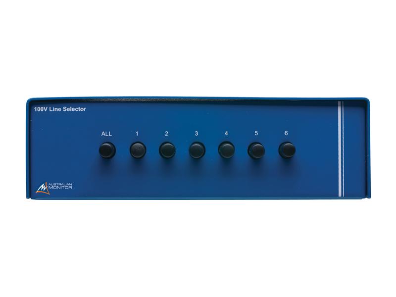 Australian, Monitor, Six, Zone, Speaker, Selector., One, 100V, speaker, input, six, 100V, speaker, ou,