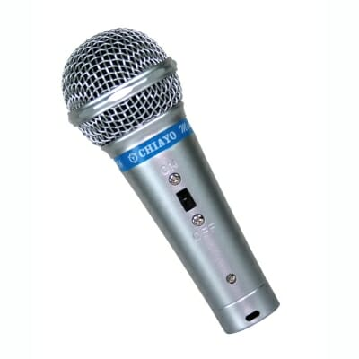 Chiayo, Mini, cabled, dynamic, microphone, silver,