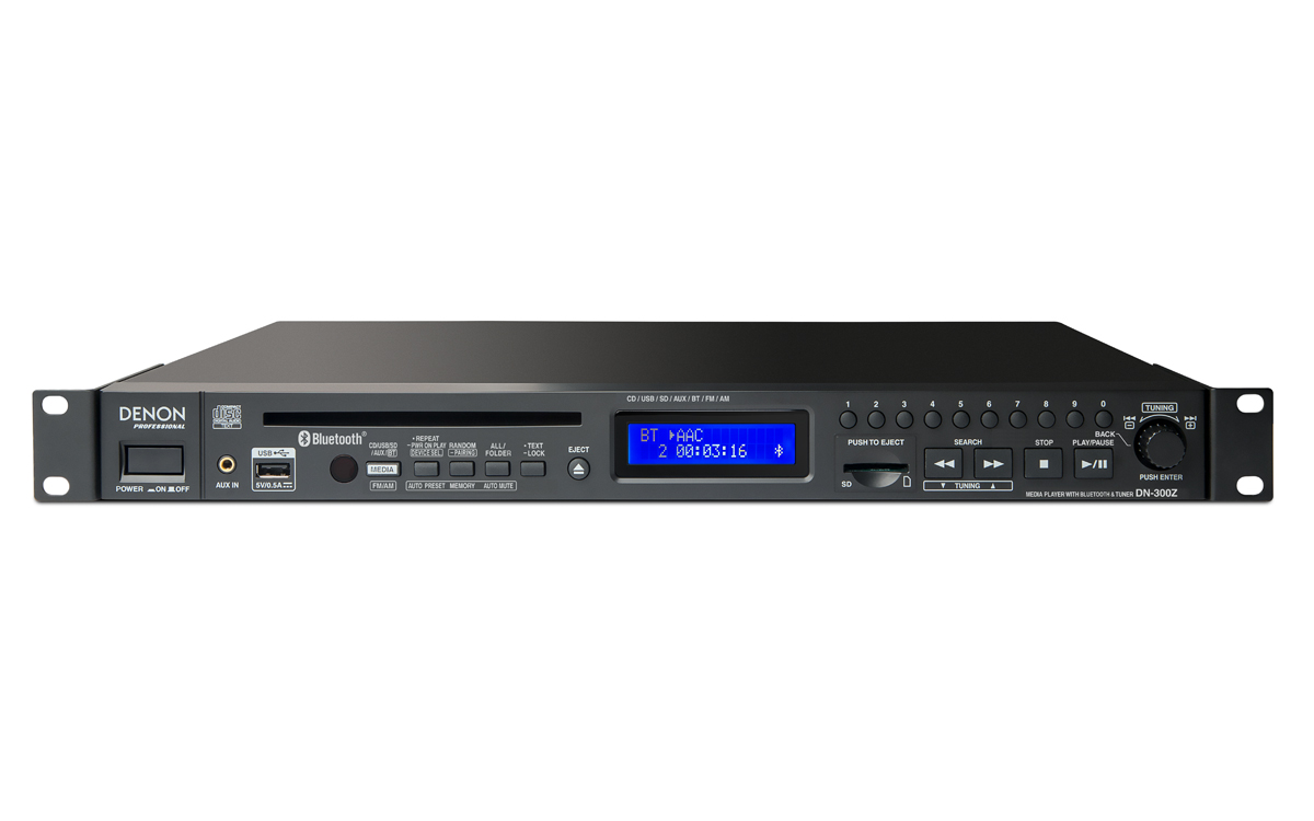 Denon, Pro, Media, Player:, Plays, CD, MP3, WAV, and, AAC, files., Supports, removable, US,