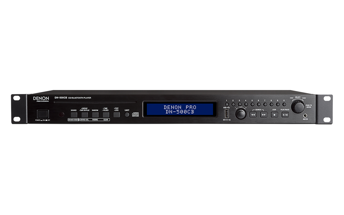 Denon, Pro, CD, Media, Player., Bluetooth, 3.0, pairing, to, (8), devices, Slot-loading, CD,