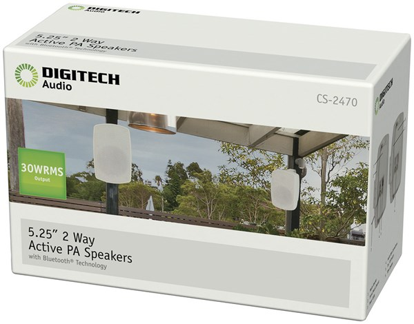 Digitech, 5, Inch, Bluetooth, Speaker, Pair,