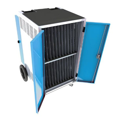 Gilkon, LCMT-30, -, 30, Bay, PC, Vault, Trolley, w/, Eco, System, -, Blue, Doors,