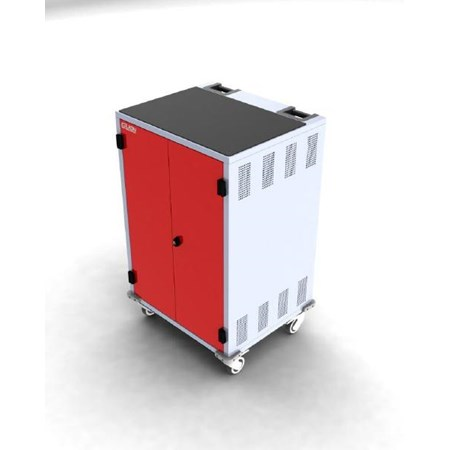 Gilkon, LCMT-30, -, 30, Bay, PC, Vault, Trolley, w/, Eco, System, -, Red, Doors,
