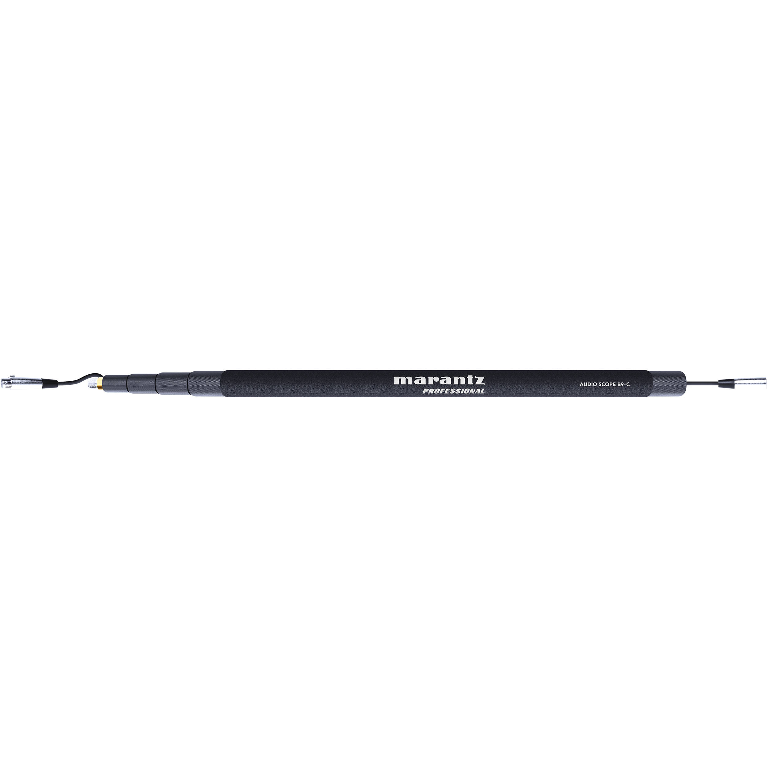 Marantz, Pro, 9-foot, boom, pole, 4, extendable, sections, Foam, handle, for, comfort, Velc,