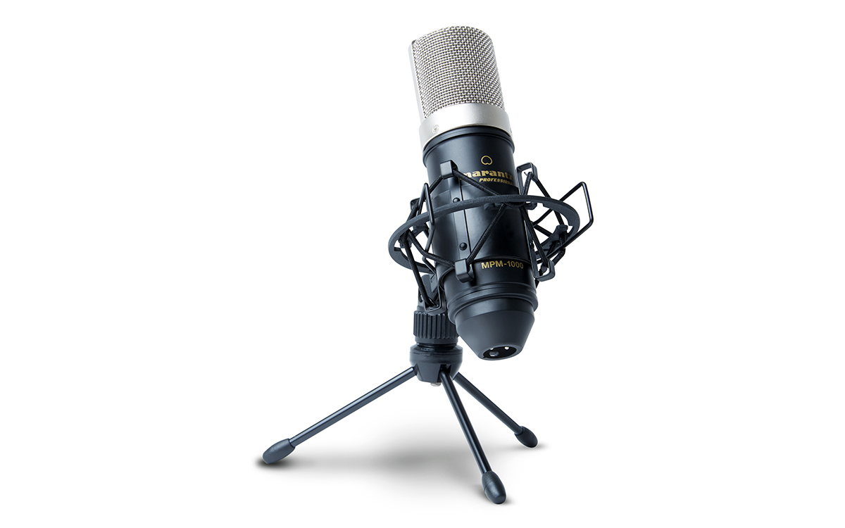 Marantz, Pro, Side-address, condenser, microphone, Cardioid, polar, pattern, High, sensit,