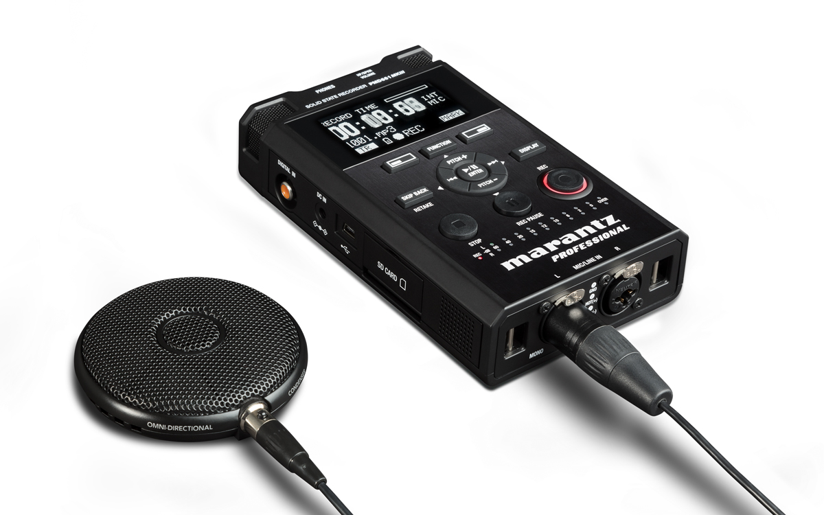 Marantz, Pro, 2-channel, handheld, solid-state, audio, recorder, for, accurate, detailed, r,