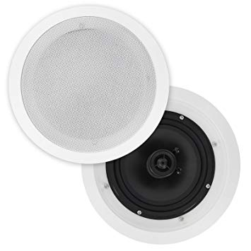 Pair, of, 6.5in, In, Ceiling, 2, Way, Speakers, Polyprop, Cone, 100W,