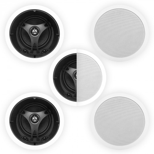 5x, 6.5, Angled, 2-Way, Glass, Fibre, Ceiling, Speaker, 100, Watts, 8, Ohms, XD6205B, White,