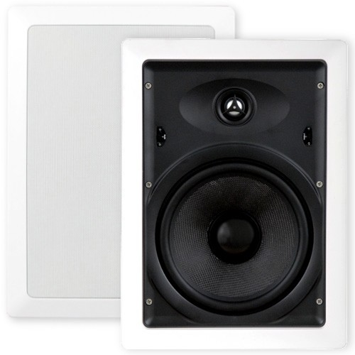 8, Glass, Fibre, Cone, In, Wall, Rectangle, Speakers, Pair, XQ8205B.x2,