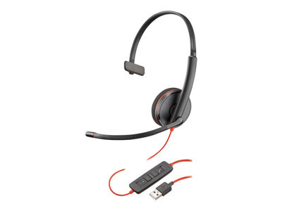 PLANTRONICS, BLACKWIRE, C3210, UC, MONO, USB-A, CORDED, HEADSET,