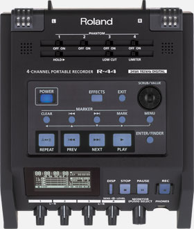Roland, 4, Trk, field, recorder, with, SD, memory.,