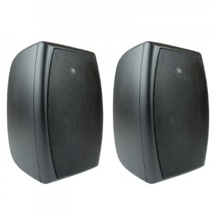 Pair, of, 4in, Indoor/Outdoor, 100W, Speakers, Black, AOS203B,