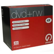 Shintaro, DVD+RW, 4.7GB, 4X, i10Pk, (inkjet),