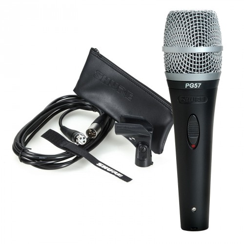 Shure, PG57XLR, Cardioid, Dynamic, Instrument, Microphone, &, XLR, cable,