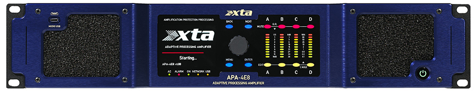 XTA, APA, -, 1900W, 4, channel, amplifier, with, XTA, DSP, processing, network, contr,