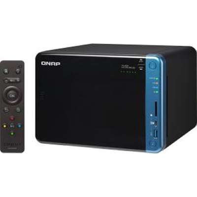 QNAP, TS-653B-4G, 6-Bay, Network, Attached, Storage, Intel, Celeron, Apollo, Lake, J3455, quad-core, 1.5GHz, (up, to, 2.3GHz), 4GB, DDR,