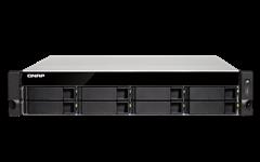 QNAP, TS-873U-4G, 8BAY, NAS(NO, DISK), RX-421ND, 4GB, 10GbE, SFP+(2), GbE(4), M.2(2), 2U, 3YR, WTY,