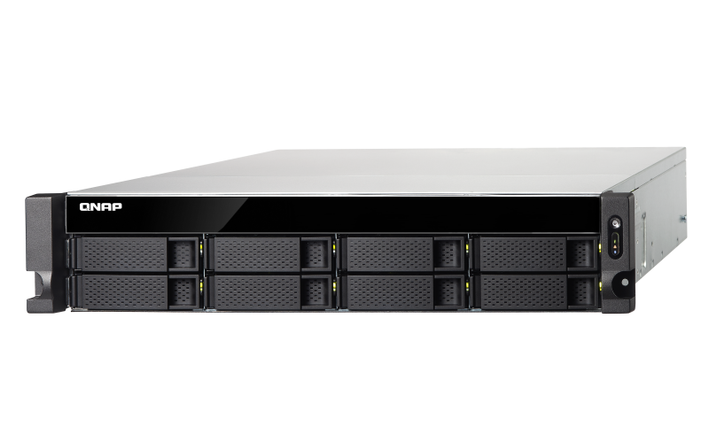 TS-883XU-RP-E2124-8G, NO, RAIL, 2U, RACK, NAS, INTEL, XEON, 3.3GHZ, 4, CORE, 8G, RAM, 8X, HDD, 2X, PSU,