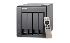 QNAP, TS-451+-8G, 4-Bay, Network, Attached, Storage, Intel, Celeron, Quad-Core, 2.0GHz, (up, to, 2.42GHz), 8GB, DDR3L, RAM, (max, 8GB),