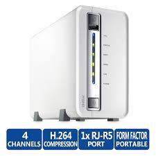 QNAP, VS-2104L, -, 2, Drive, 4, Channel, NVR, RAID, 0/1, 1, x, GbE, 2, year, Return, to, Base, Warranty,
