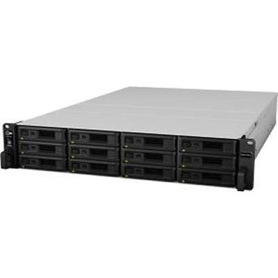 Synology, RS3617RPxs, RackStation, 12-Bay, Scalable, Network, Attached, Storage, (, RAIL, KIT, optional, ), Redundant, Power,