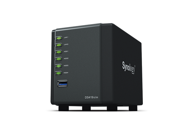 Synology, DS419slim, DiskStation, 2.5, HDD, 4-Bay, NAS,