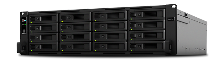 Synology, RS4017xs+, RackStation, 16-Bay, Scalable, Network, Attached, Storage, (, RAIL, KIT, optional, ), with, Redundant, Power.,