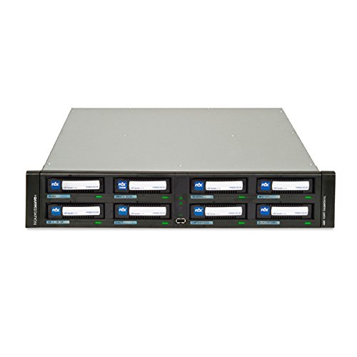 RDX, QuikStation:, 8-drive, 4, x, 1GbE-attached, Removable, Disk, Library, 2U, Rackmount,