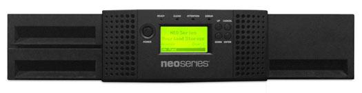 NEOs, T24, 2u/24-slot/1-LTO7, Fiber, Channel, Autoloader,