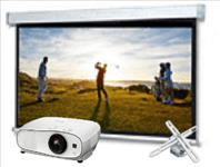 Home, Theatre, Wireless, Bundle:, Epson, HD, 3D, Projector, plus, 2.6m, wide, Electric, Screen, and, Mount,
