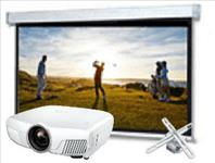 Home, Theatre, Pro, Bundle:, Epson, 4K, Projector, plus, 2.8m, wide, Electric, Screen, and, Mount,