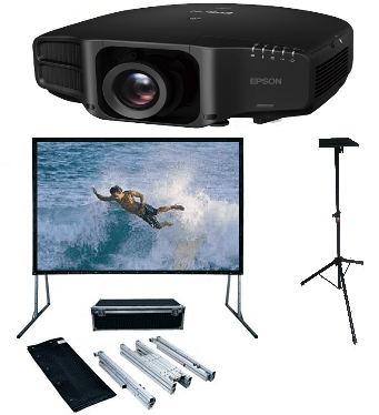 Epson, 7000, lumen, WUXGA, Projector, and, 5m, fastfold, screen, and, projector, stand,