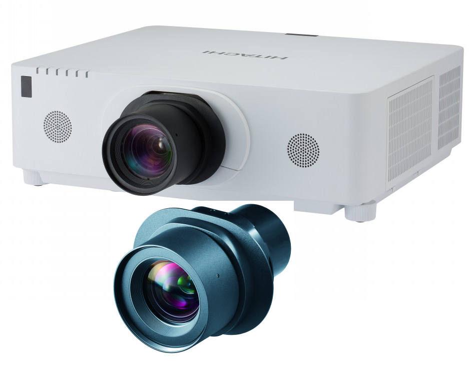 Hitachi, CPWU8600W, 6000, Lumen, WUXGA, Projector, with, Bonus, Lens,
